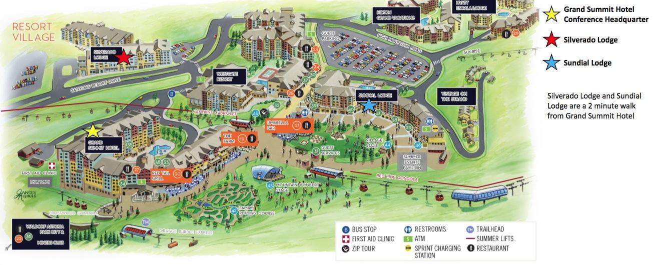 Map Of Hotels In Park City Utah
